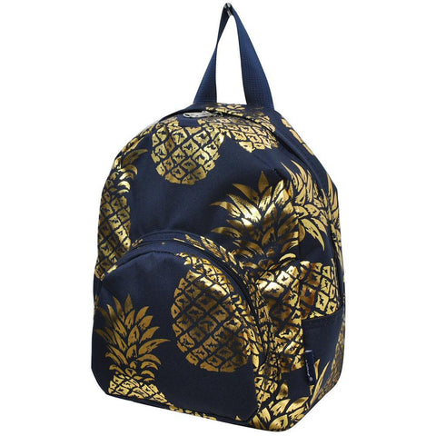 Gold Navy Southern Pineapple NGIL Canvas Mini Backpack