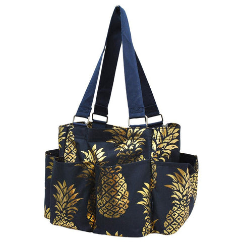 Gold Navy Southern Pineapple NGIL Small Utility Tote