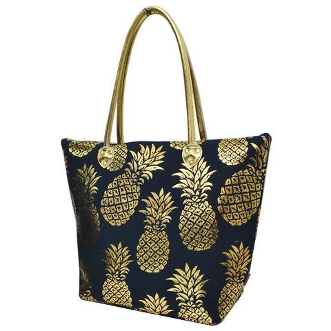 Gold Navy Southern Pineapple NGIL Gold Collection Tote Bag