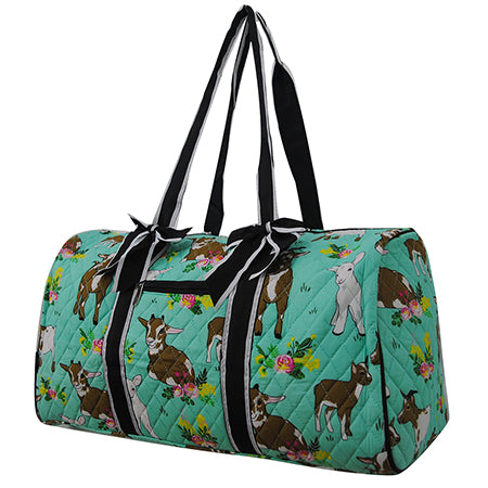 Happy Goat World NGIL Quilted Large Duffle Bag