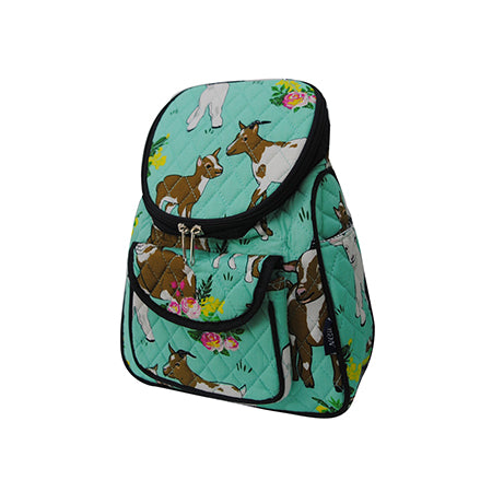Happy Goat World Quilted Mini Backpack