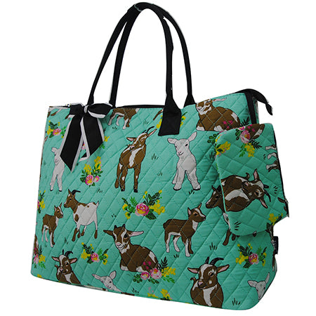 Happy Goat World NGIL Quilted Overnight Tote Bag