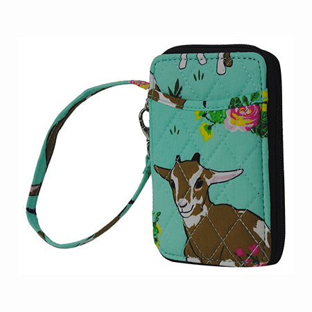 Happy Goat World NGIL Quilted Wristlet Wallet