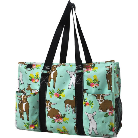 Personalized Bag, Monogrammed Zippered Tote Bag, personalized tote bags wholesale, personalized bags for nurses, personalized gifts for her, nurse tote bag personalized, western gift bag, goats print tote, goat tote.