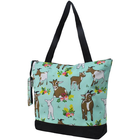 goat tote bag, goat life tote bag, totes ma goats tote bag, goat totes for sale, goat print tote bags, NGIL Brand, Personalized Travel Bag, monogram gift ideas, personalized accessories for mom, gifts for mom, nice tote bags for work, nice canvas tote bag, nice women's tote bag, ngil tote bags,