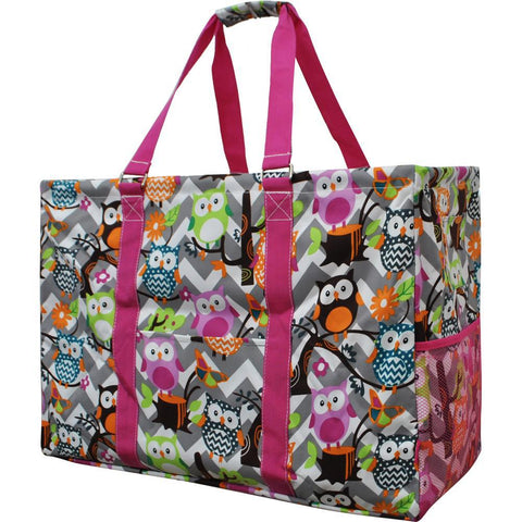 Owl Town Grey Chevron NGIL Mega Shopping Utility Bag