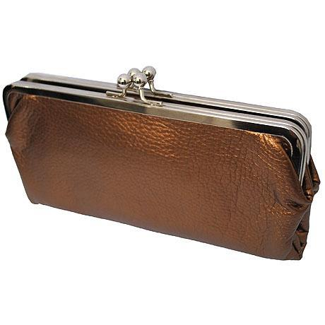 Double Frame Bronze NGIL Vintage Style Wallet
