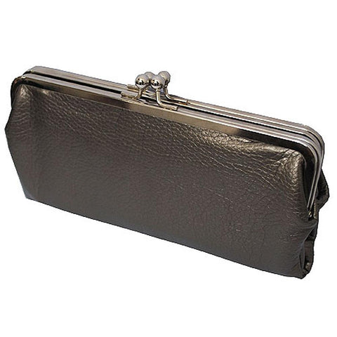 Double Frame Dark Silver NGIL Vintage Style Wallet