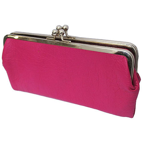 Double Frame Hot Pink NGIL Vintage Style Wallet