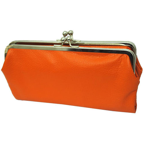 Double Frame Orange NGIL Vintage Style Wallet