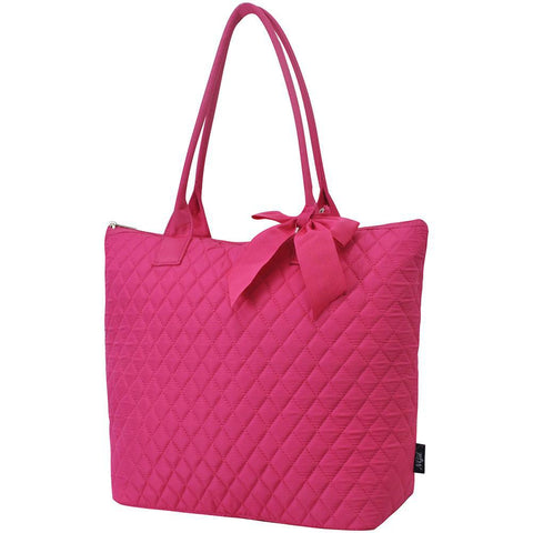 Solid Hot Pink NGIL Quilted Tote Bag