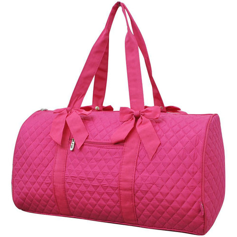 Solid Hot Pink NGIL Quilted Duffel Bag