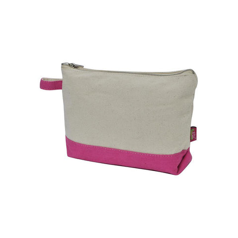 Hot Pink NGIL Large Jute Cosmetic Case