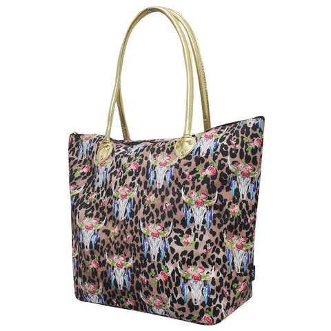 Leopard Bull Skull NGIL Gold Collection Tote Bag
