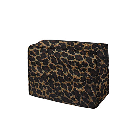 Leopard Print NGIL Large Cosmetic Travel Pouch