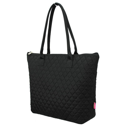Solid Black NGIL Quilted Tote Bag