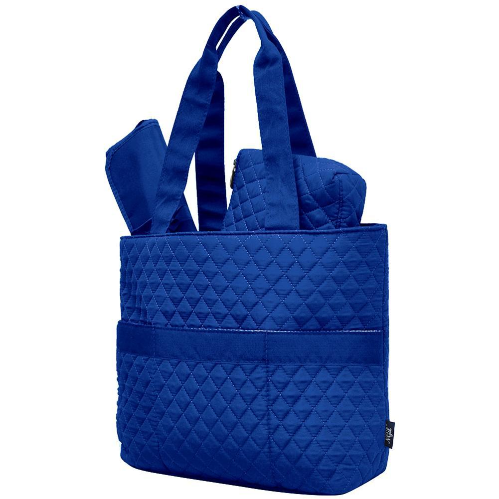 Royal Blue Solid NGIL Quilted 3pcs Diaper Bag