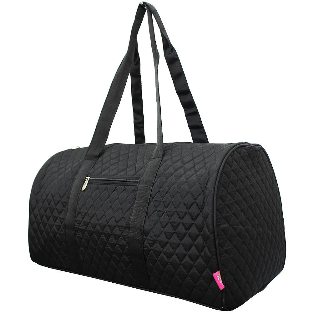 Solid Black NGIL Quilted Large Duffle Bag