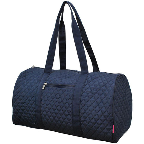 Solid Navy NGIL Quilted Large Duffle Bag