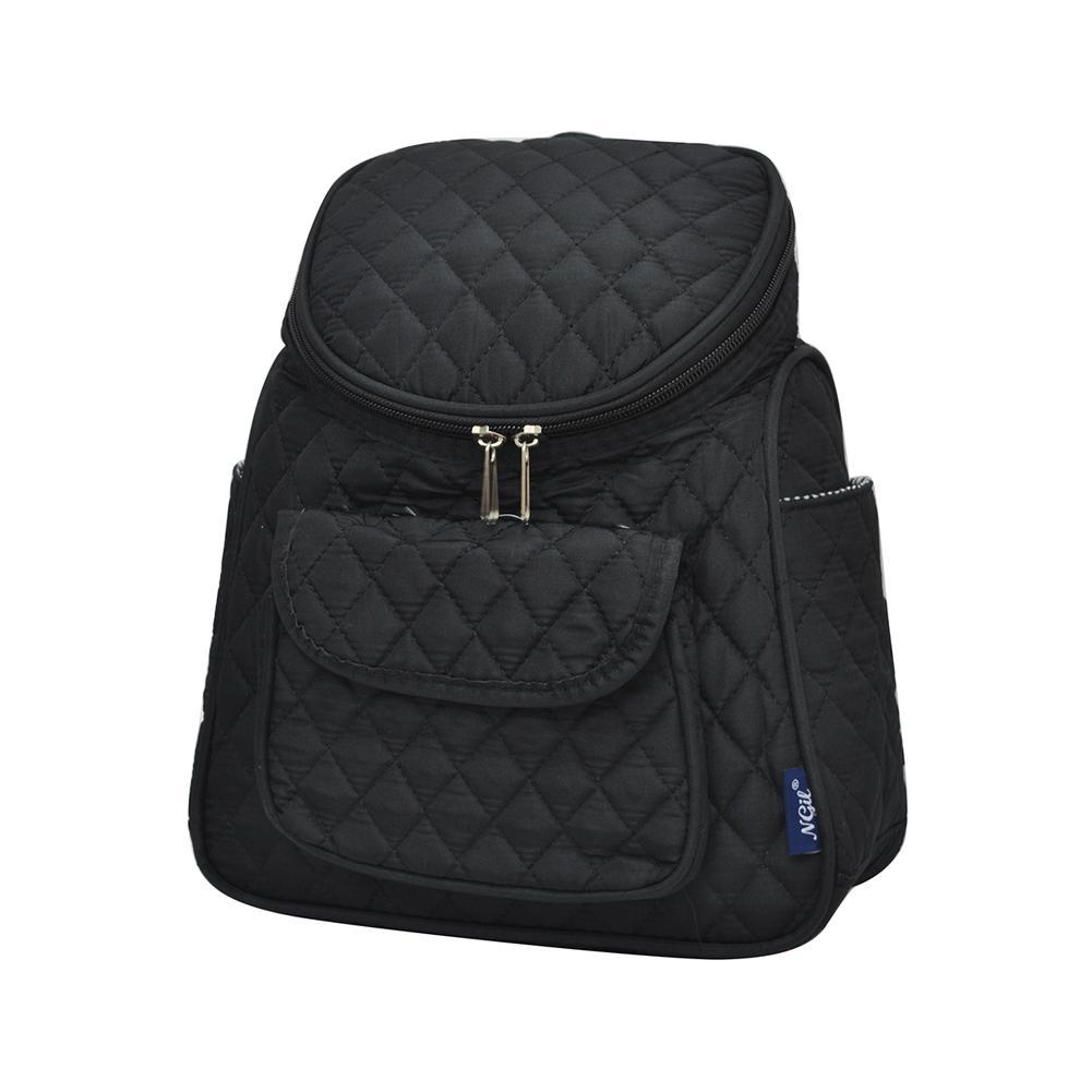 Solid Black NGIL Quilted Mini Backpack