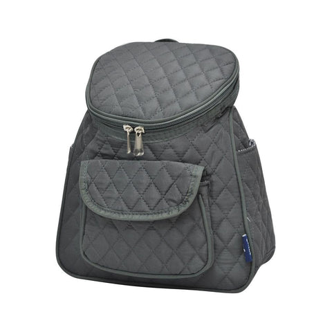 Solid Gray NGIL Quilted Mini Backpack