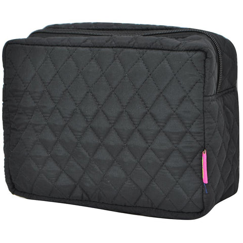women's travel makeup bag, women's cosmetic travel case, makeup pouch with compartments, cosmetic pouch set, cosmetic gift boxes wholesale, makeup gift idea, makeup organizer ideas, cosmetic organizer counter top, best makeup bag personalized, travel make up pouch, black quilted toiletry bag, quilted black makeup case.