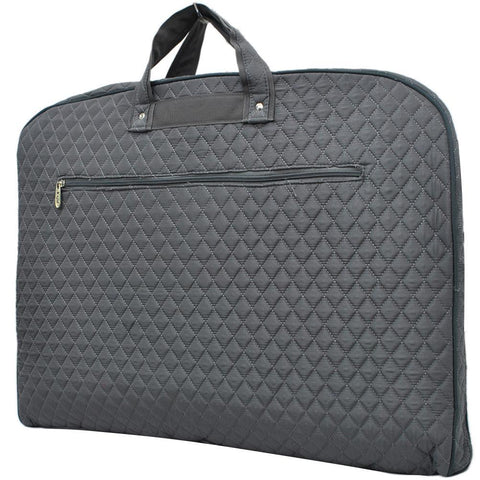 Solid Quilted Gray NGIL Garment Bags