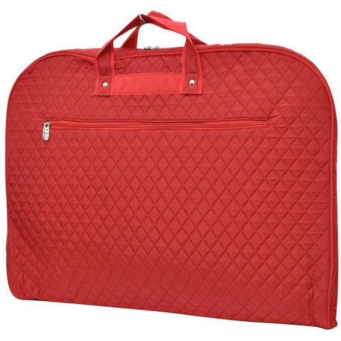 Solid Quilted Red NGIL Garment Bags