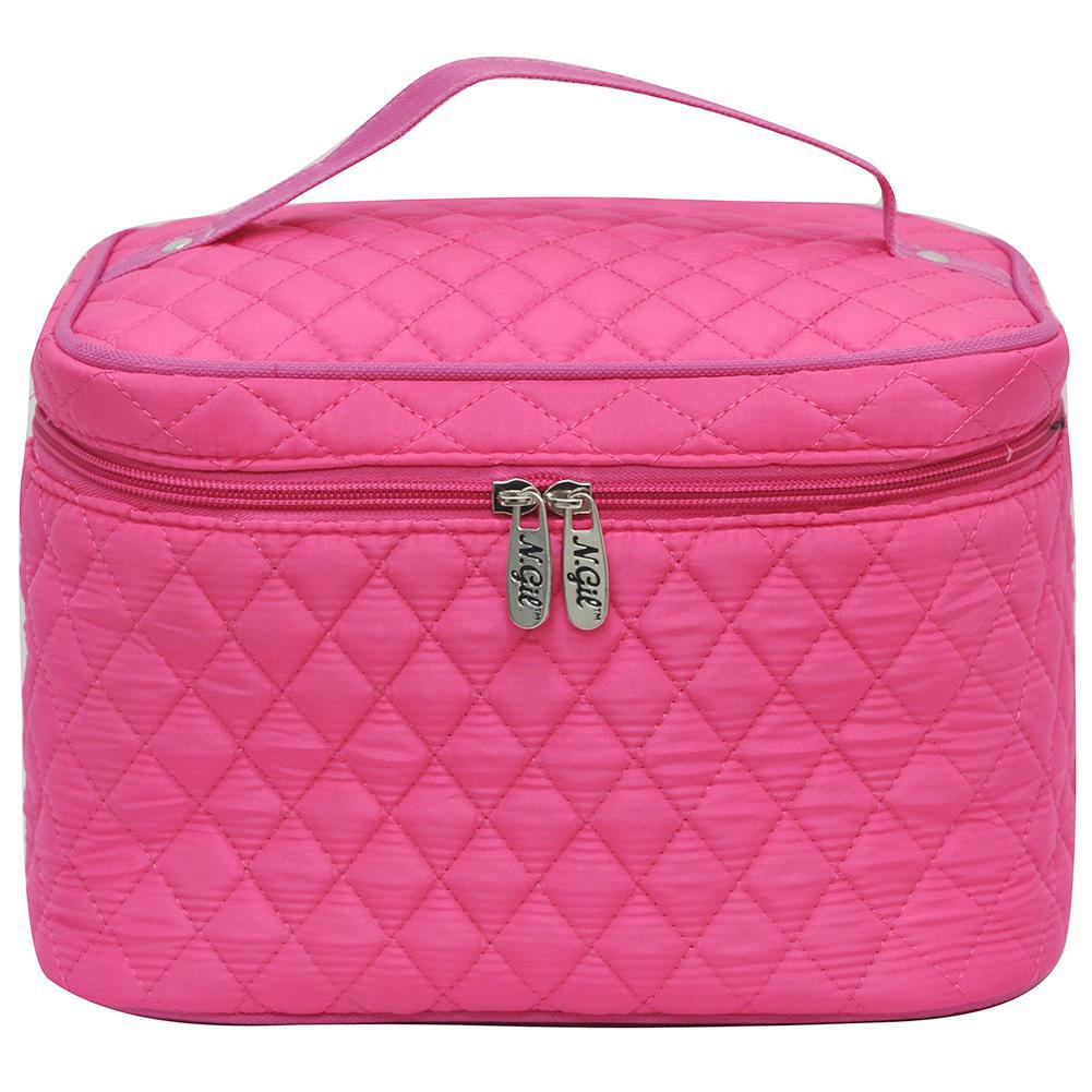 Hot Pink NGIL Large Top Handle Cosmetic Case
