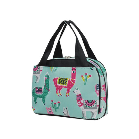 Wholesale childrens lunch bags, lunch bags for girls, cute lunch bag, work lunch bag, cute lunch bag for ladies, monogrammed lunch bags, monogrammed lunch bags for adults, cute llama lunch bag, colorful llamas, cute llama print, custom canvas lunch bags.