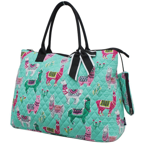 Llama NGIL Quilted Overnight Tote Bag