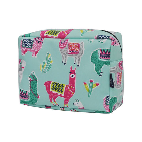 Cosmetic bags for travel, women's makeup bag set, makeup pouch for cheap, makeup gift idea, large monogram cosmetic bag, cosmetic organizer case, travel bags makeup artist, llama makeup bag, llama cosmetic pouch
