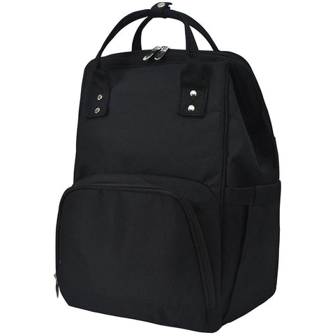 Solid Black NGIL Diaper Bag/Travel Backpack