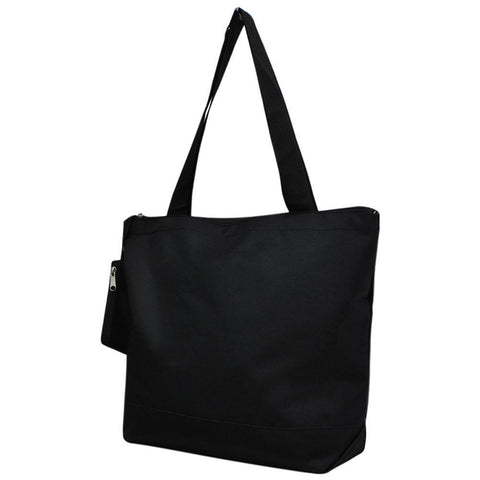 Overnight bag, monogram gifts for her, personalized accessories bag, personalized tote for women, personalized gifts for her, NGIL Brand, ngil tote, tote bag supplier, wholesale tote bags bulk, solid black tote bag, solid black canvas tote, all black tote bag, all black canvas tote bag,
