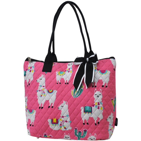 Llama World NGIL Quilted Tote Bag