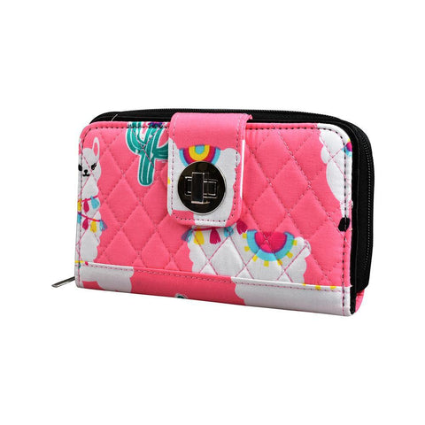 Llama World NGIL Quilted Twist Lock Wallet