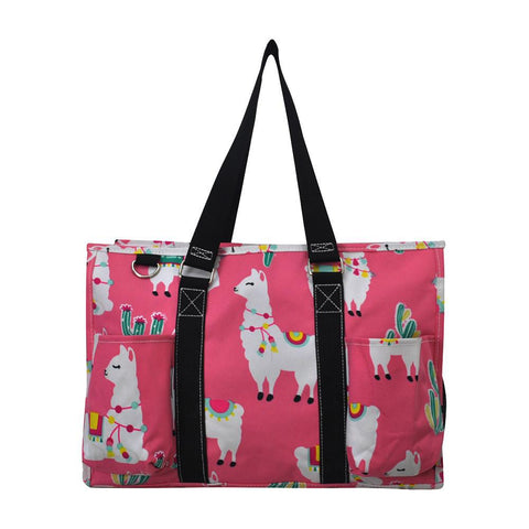 Llama World NGIL Zippered Caddy Organizer Tote Bag
