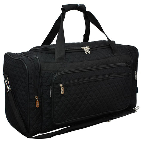 "Black NGIL Quilted Carry on 23"" Duffle Bag"