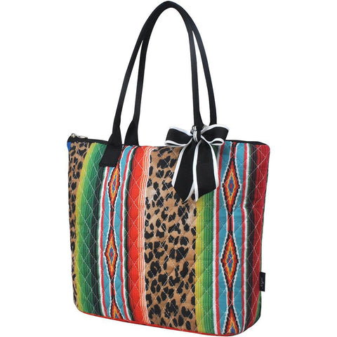 Leopard Serape NGIL Quilted Tote Bag