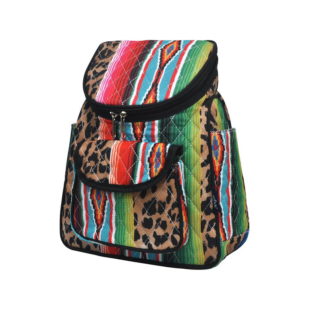 Leopard Serape NGIL Quilted Mini Backpack