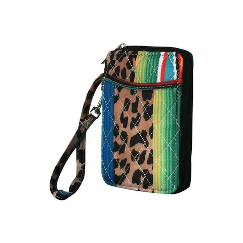 Leopard Serape NGIL Quilted Wristlet Wallet