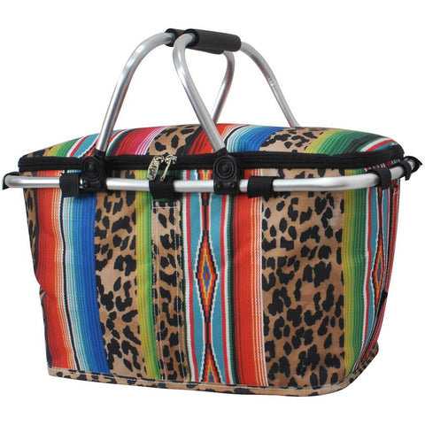 Market basket insulated bags, market basket tote, picnic basket with lid, insulate basket for two, picnic basket for wedding, picnic basket custom, baskets for 3, baskets with blanket, monogram gift, monogram gifts for couple, cute serape basket, cute leopard basket, personalized gift basket, personalized gifts for couple.