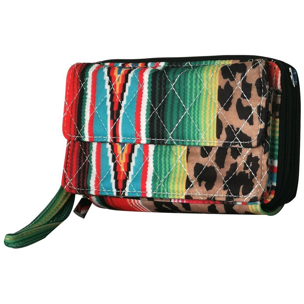 Leopard Serape NGIL Quilted All In One Wallet