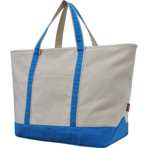 NGIL Aqua Large Boat Tote Bag