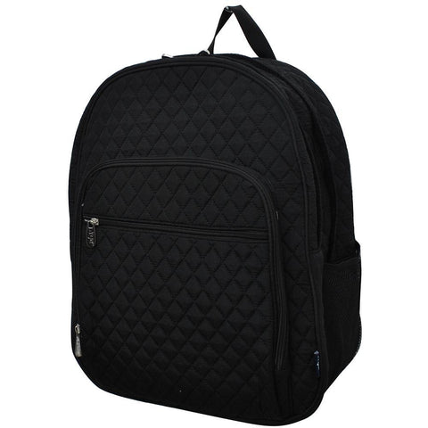 Solid Color Black NGIL Quilted Large School Backpack