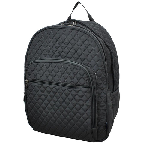 Solid Color Gray NGIL Quilted Large School Backpack