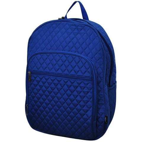 Solid Color Royal NGIL Quilted Large School Backpack