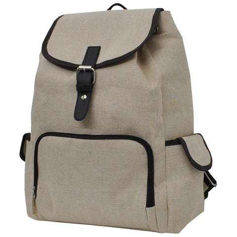 Jute/Juco NGIL Large Canvas Backpack