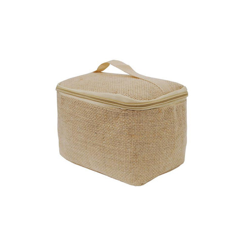 Solid Color Jute NGIL Cosmetic Case