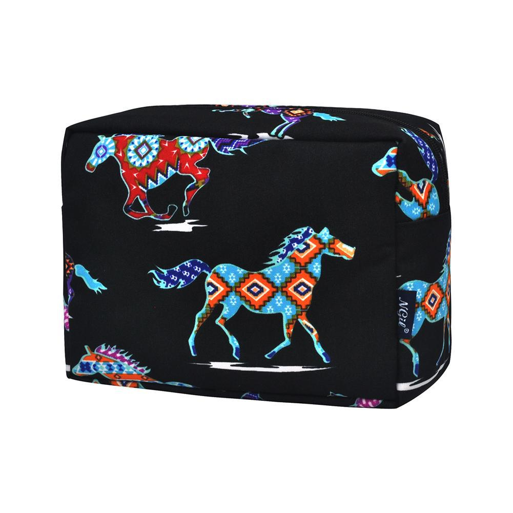 Cosmetic bag for brushes, woman's makeup bag travel, makeup pouch pattern, makeup bag gift s for women, cosmetic bag for gym, cosmetic organizer for vanity, custom travel bags for bridesmaids, wild horse stallion cosmetic case.